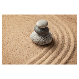 Zen rocks and sand